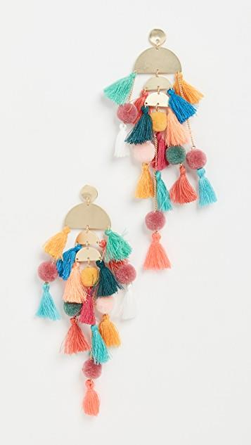 Rainbow Tassel Earrings レディース