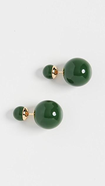 Verde Double Ball Earrings レディース