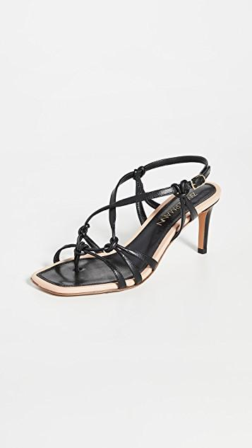 Knotted Strap Heeled Sandals レディース