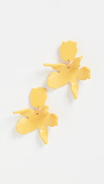 Sunflower Small Paper Lily Earrings レディース