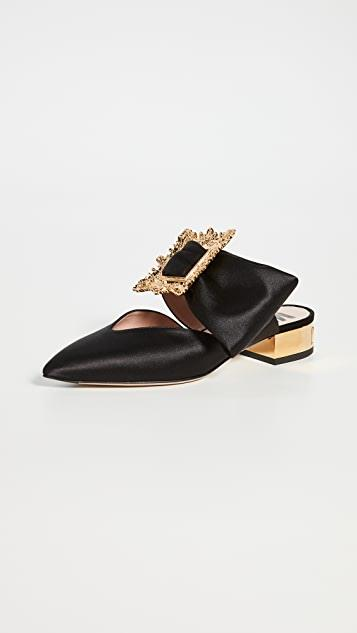 Pointed-Toe Broach Mules レディース