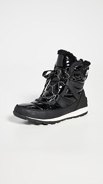 ソレル Whitney Short Lace Patent Boots レディース