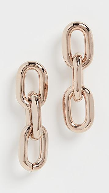 Melia Large Rounded Paper Clip Trip Earrings レディース