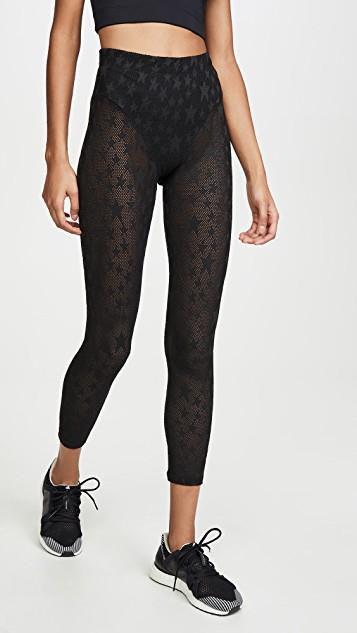 Perforated Sheer Star Leggings レディース