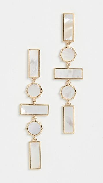 The Mother of Pearl Mosaic Drop Earrings レディース