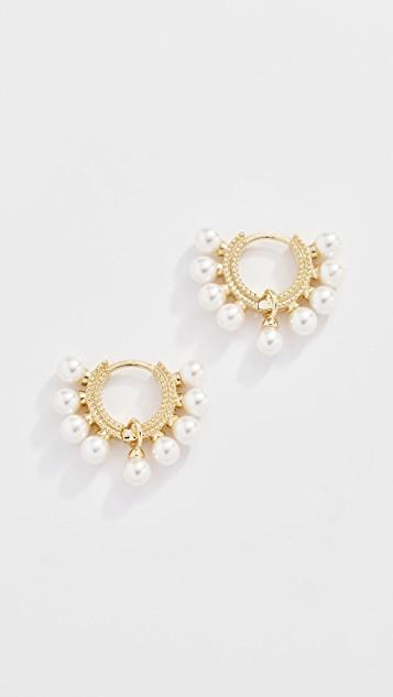 Lola Pearl Huggie Earrings レディース