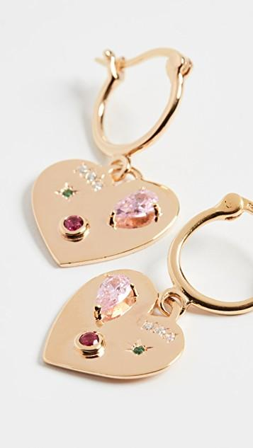 Night Market Heart Hoop Earrings レディース