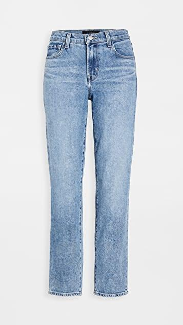 Adele Mid Rise Straight Jeans レディース