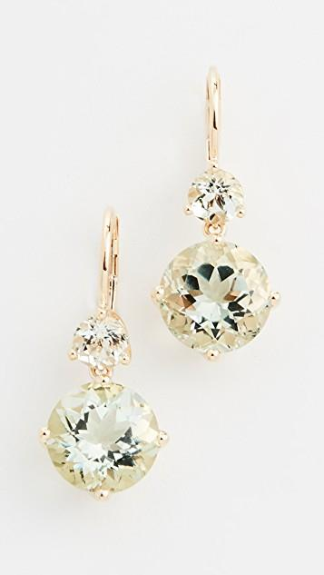 14k Double Drop Earrings レディース