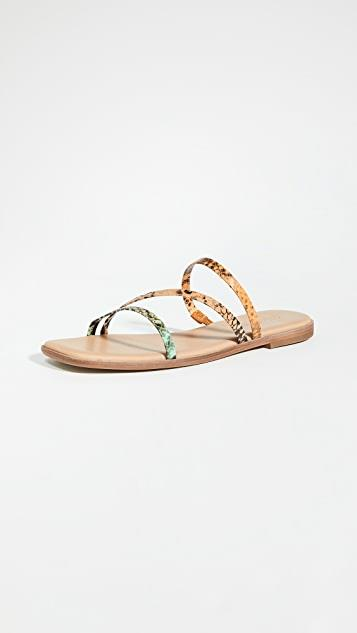 Leslie Bare Square Toe Sandals レディース