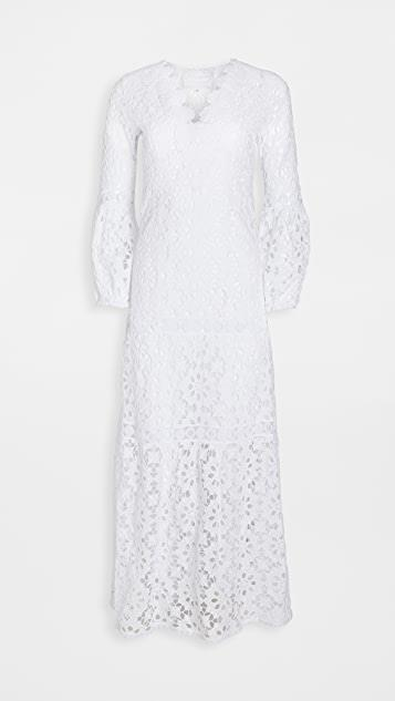 Argentino Daisy Lace V Neck Gown レディース