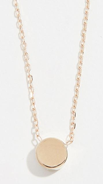 14k Gold Super Tiny Disc Necklace レディース