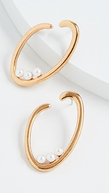 O Logo Pearl Earrings レディース