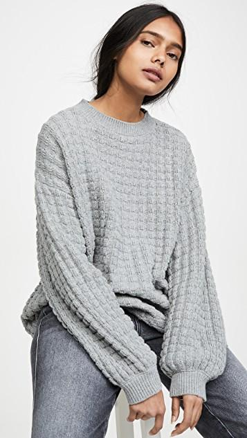 Exaggerated Thermal Sleeve Knit レディース
