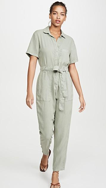 Button Front Jumpsuit レディース