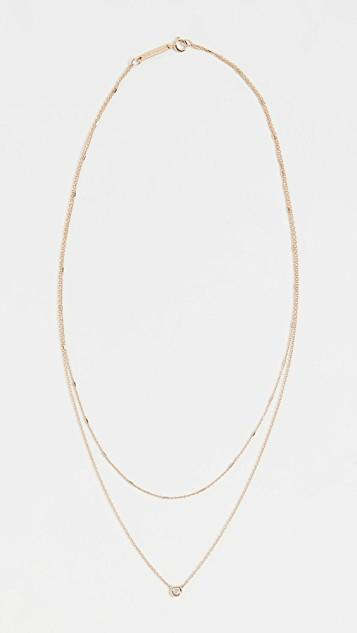14k Gold Double Chain Necklace レディース
