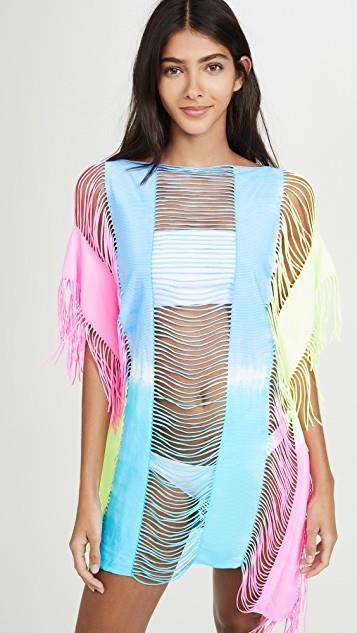 Neon Tie Dye Cover Up Dress レディース