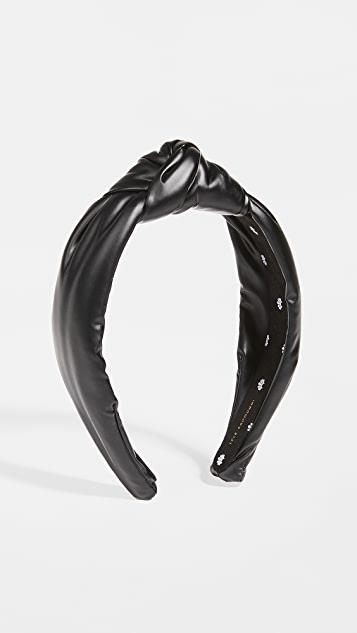 Faux Leather Knotted Headband レディース