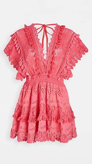 La Babourad Watermelon Kaftan Mini Dress レディース