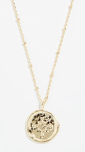 Compass Coin Necklace レディース