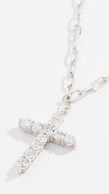 18k Diamond Cross Necklace レディース