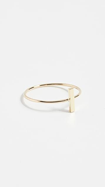 18k Gold Bar Ring レディース