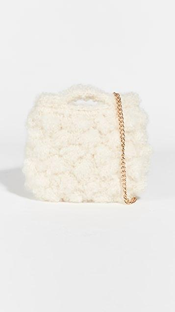 White Mohair Crossbody Bag レディース
