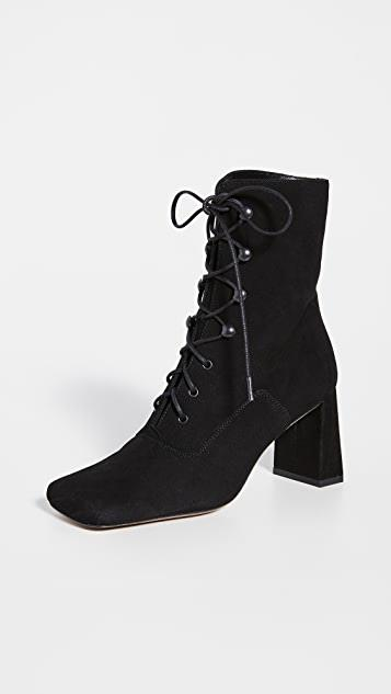 Claude Lace Up Suede Booties レディース
