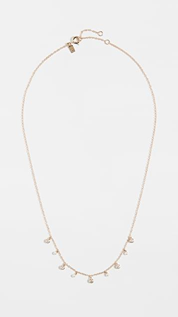 14k Diamond Bezel & Pearl Necklace レディース