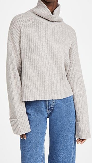 Cashmere Galway Sweater レディース