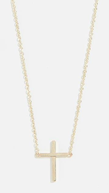 18k Gold Thin Cross Necklace レディース