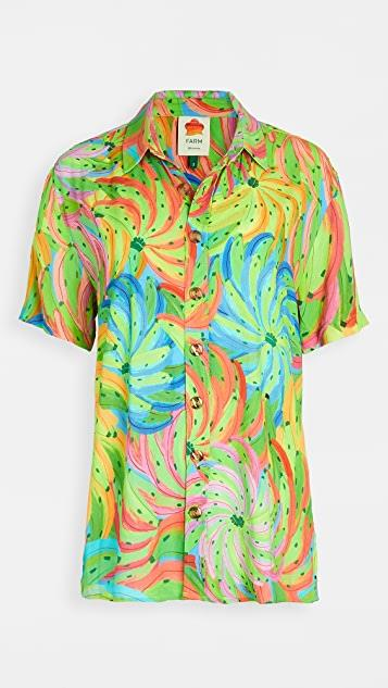 Neon Banana Boy Shirt レディース