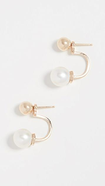 14k Gold with Freshwater Cultured Pearl Drop Earrings レディース