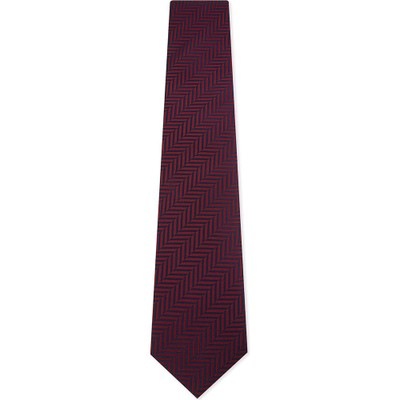 イートン ネクタイ chevron stripes silk tie Pink/red