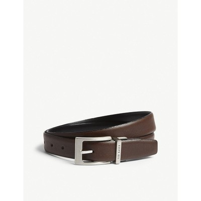 テッドベーカー ベルト karmer reversible leather belt Chocolate