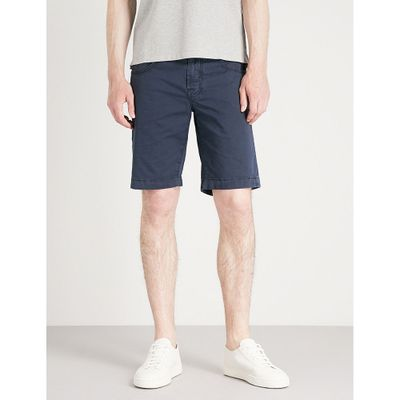 ヤコブ コーエン ショートパンツ tailored-fit stretch-cotton chino shorts Blue