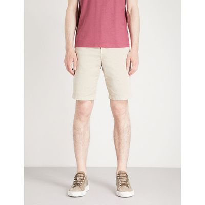 ヤコブ コーエン ショートパンツ tailored-fit stretch-cotton chino shorts Beige