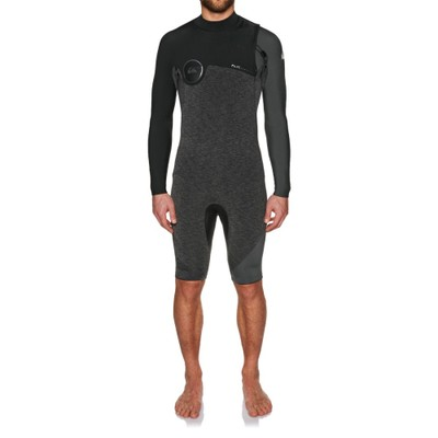 クイックシルバー ウェットスーツ Quiksilver 2mm 2018 Hl Zipperless Long Sleeve Shorty Wetsuit Heather Black/ Black