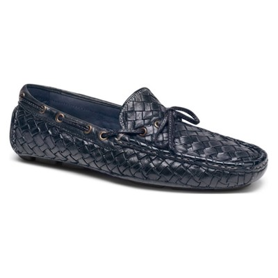 トラスク ドライビングシューズ 'Riddick' Driving Shoe Navy Buffalo Calfskin