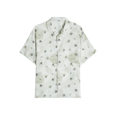 ジル サンダー 半袖シャツ Printed Short Sleeve Shirt green