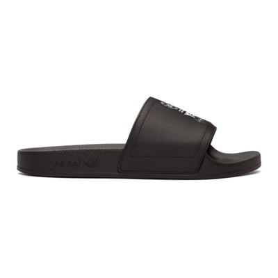 ワイスリー サンダル Black Leather Adilette Slides
