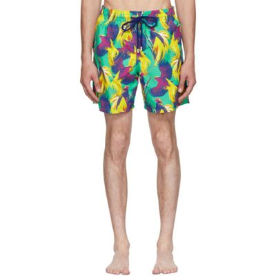 ヴィルブレクイン 海パン Multicolor Moorea Birds Of Paradise Swim Shorts