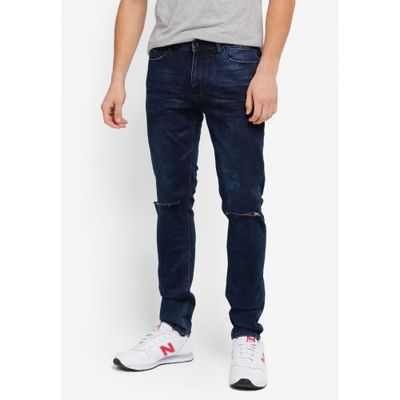 CR7 ジーンズ・デニム Reconstructed Skinny Jeans blue