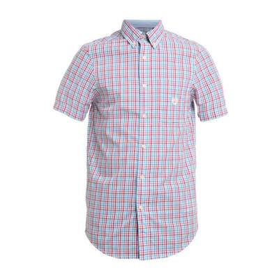 チャプス 半袖シャツ Chaps Gingham Button Down Short Sleeve Sport Shirt multi