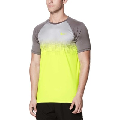 ナイキ ラッシュガード Fade Mist Short Sleeve Hydro Rash Guard Volt