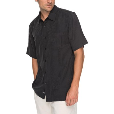 クイックシルバー その他トップス Quiksilver Waterman Malama Bay Short Sleeve Shirt Black