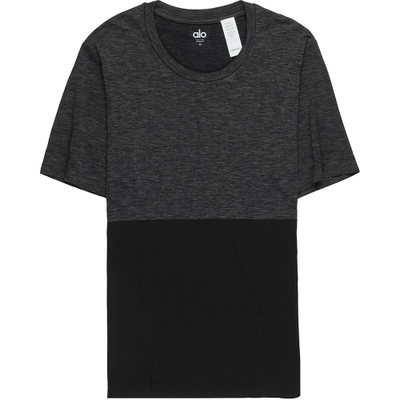 アローヨガ 半袖シャツ Energy Crew Shirts Black/Graphite Heather