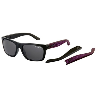 アーネット メガネ・サングラス Dropout Sunglasses Gloss Black/ Fuzzy Inked Purple/ Polarized Grey Lens