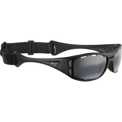 マウイジム スポーツサングラス Waterman Sunglasses - Polarized Matte Black/Neutral Grey