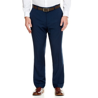 ペリー エリス その他ボトムス・パンツ Perry Ellis Slim-Fit Stretch Solid Flat-Front Pants Navy
